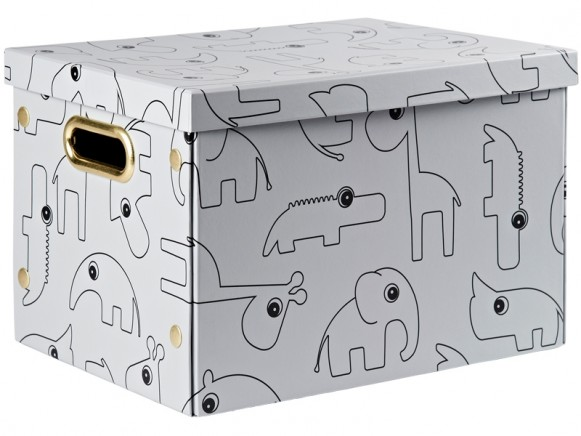 Done by Deer Foldable storage box CONTOUR grey