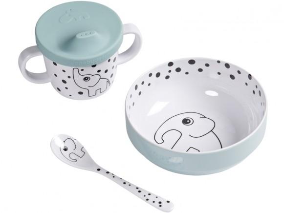 Done by Deer HAPPY DOTS baby tableware set blue