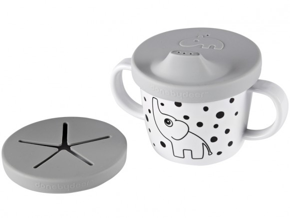 Done by Deer Spout/Snack Cup HAPPY DOTS grey
