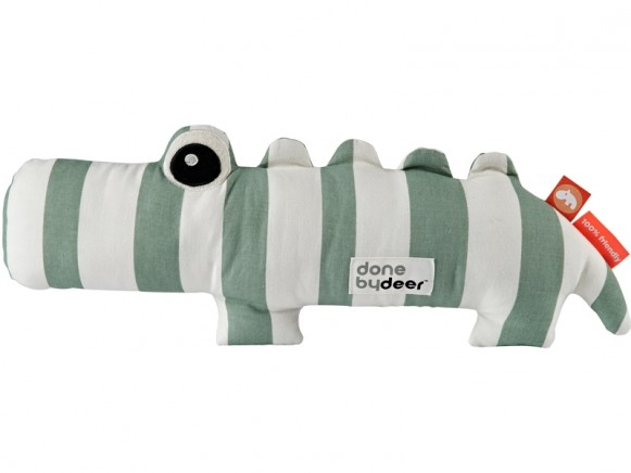 Done by Deer Soft toy CROCO green