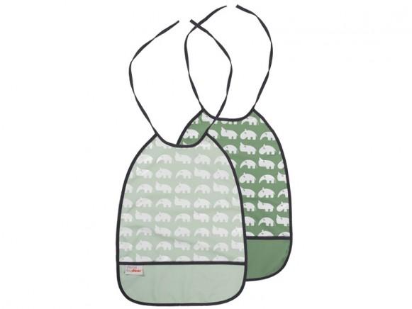 Done by Deer bib green tones 2-pack