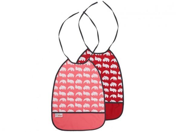 Done by Deer bib raspberry tones 2-pack