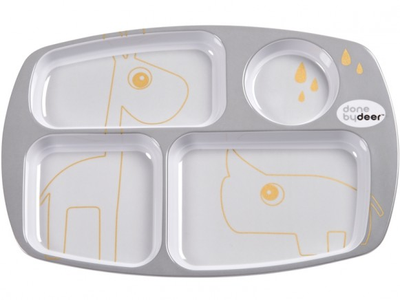 Done by Deer Compartment plate CONTOUR grey/gold