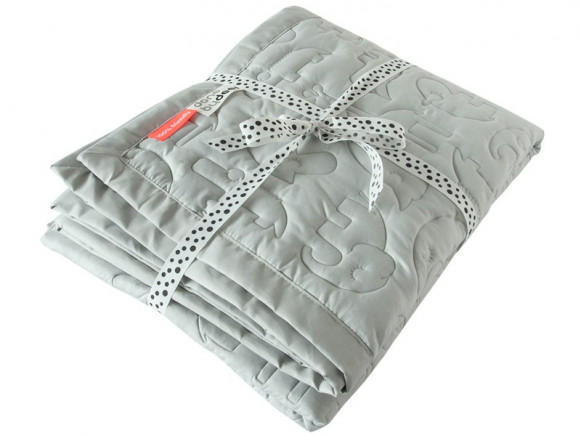 Done by Deer Quilted blanket light grey