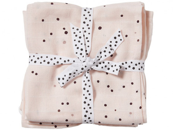 Done by Deer Burp Cloth 2-pack DREAMY DOTS powder