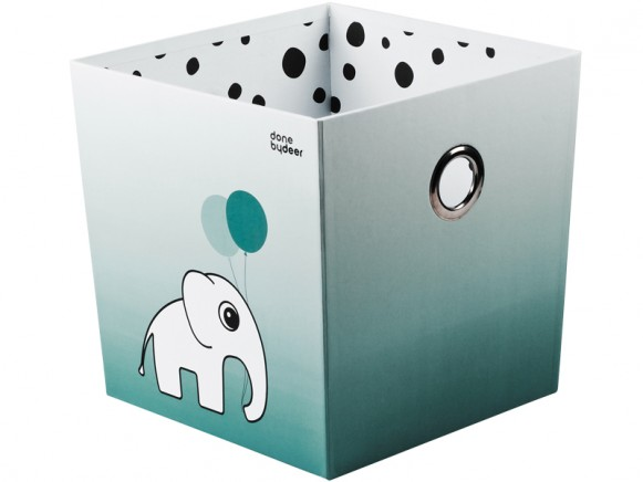 Done by Deer stacking box dots blue