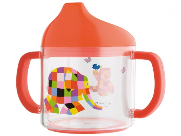 Kids acryl cup with muzzle with Elmer