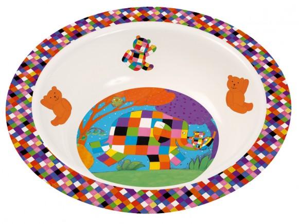 Melamine bowl with Elmer by Petit Jour