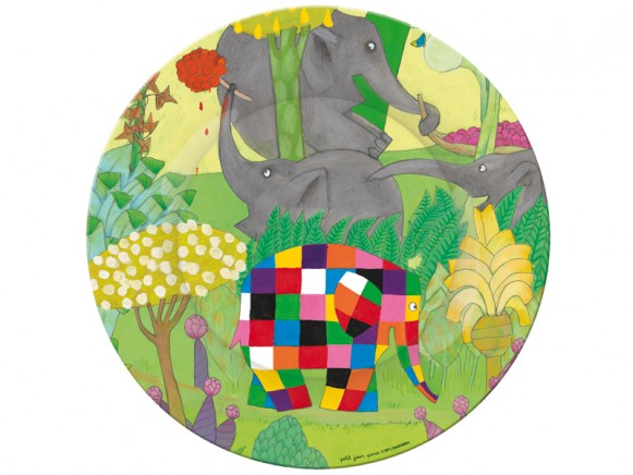Melamine plate Elmer with berries by Petit Jour