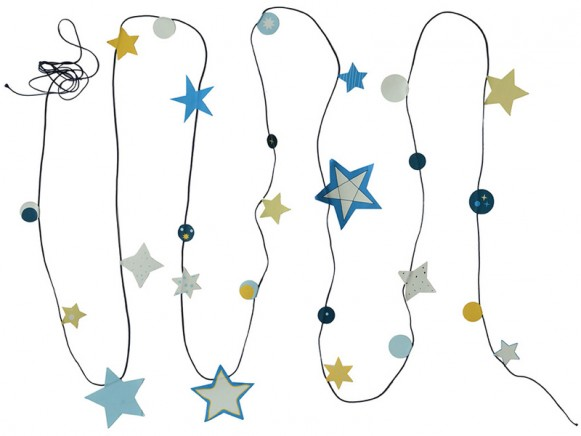 Engel garland Stars Glow in the dark