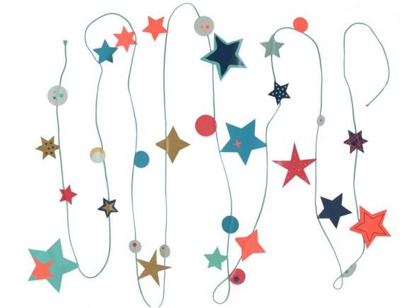Engel garland Stars blue