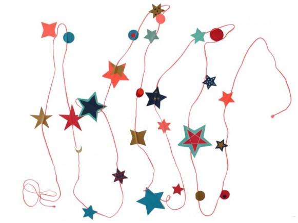 Engel garland Stars pink