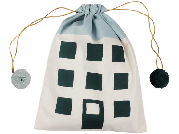 Fabelab Gift bag HOUSE light blue