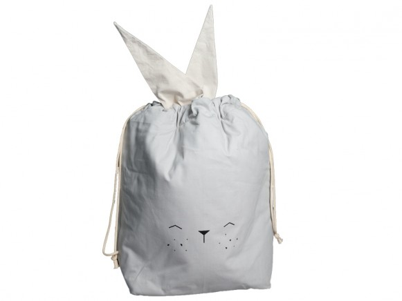Fabelab Large Storage Bag BUNNY icy grey