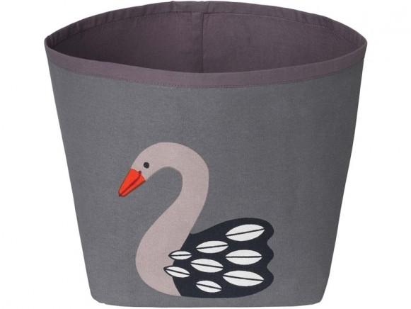 FRANCK & FISCHER storage bin SWAN dark grey