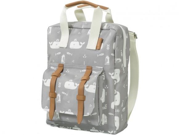 Fresk Kids Backpack WHALE grey
