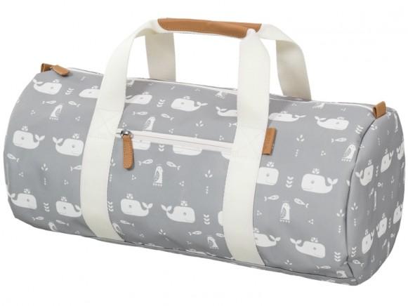 Fresk Gym Bag WHALES grey