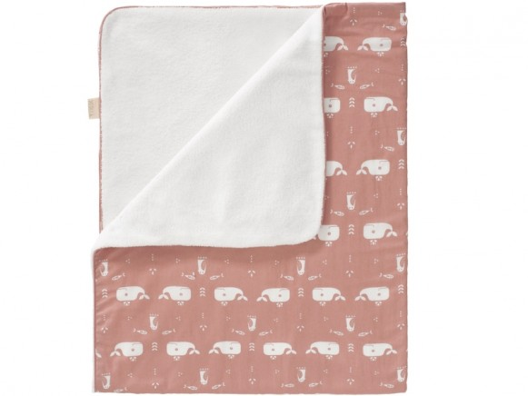 Fresk Baby Blanket WHALE old rose large