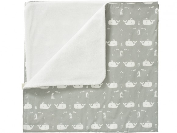 Fresk Baby Blanket WHALE grey small
