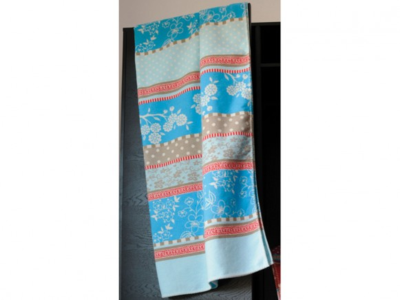 Fussenegger blanket Sylt romantic patch blue