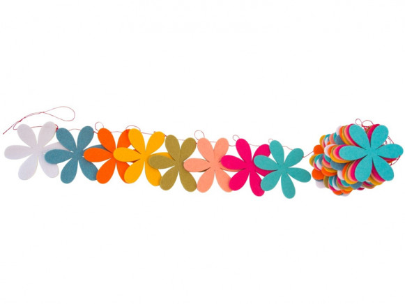 Global Affairs Garland FLOWERS pastel
