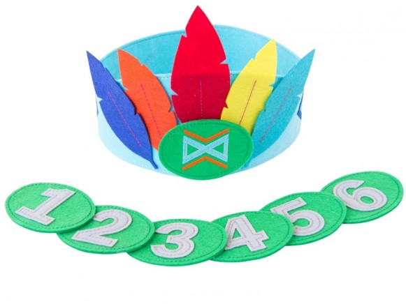 Global Affairs Birthday Crown FEATHERS blue