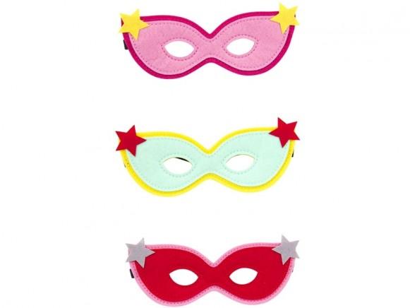Global Affairs Felt Masks for kids SUPERHERO STARS