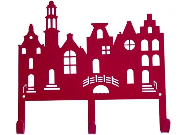 Global Affairs Coat Rack HOUSES red