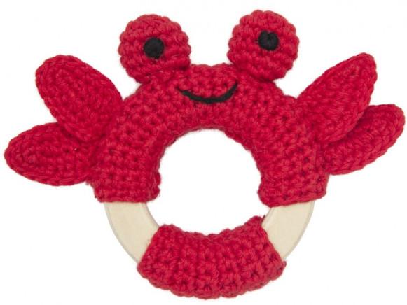 Global Affairs Crochet Ring Rattle CRAB