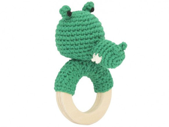 Global Affairs Crochet Ring Rattle CROCODILE