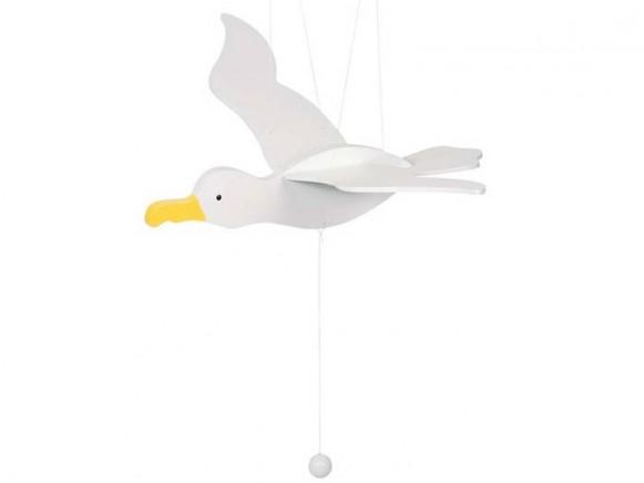 Swinging gull by Goki
