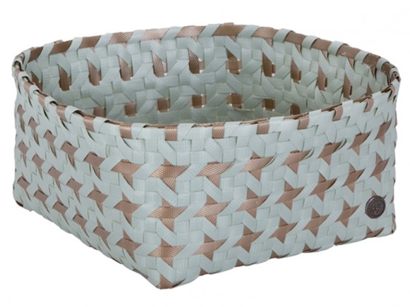 Handed By: Basket Alya - greyish green/gold
