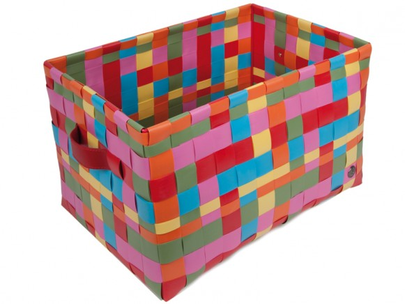 Fat strap basket in multicolour by Handed By