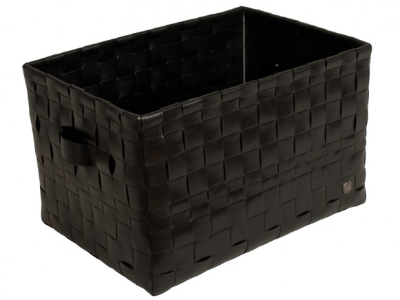 Fat strap basket in black by Handed By