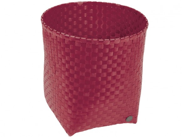 Handed By waste paper basket Padova in royal red