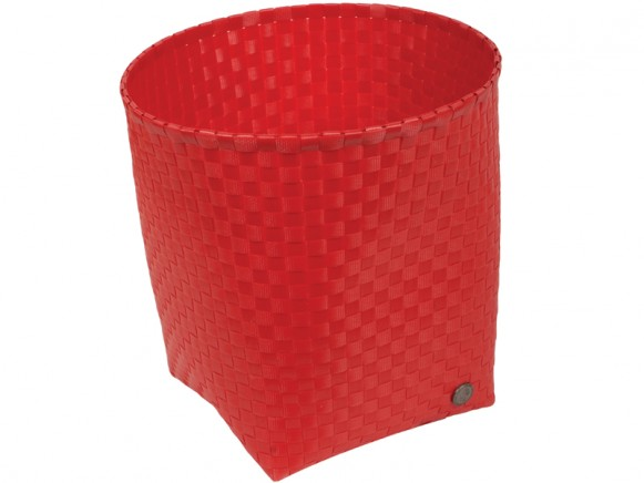Handed By waste paper basket Padova in red