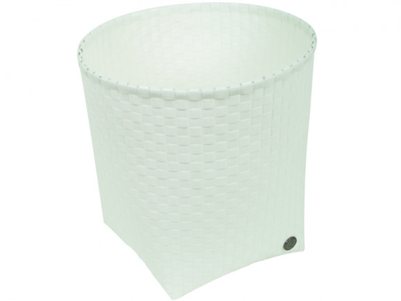 Handed By waste paper basket Padova in white