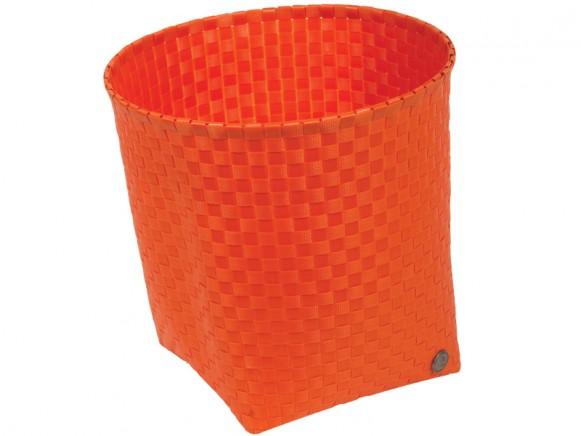 Handed By waste paper basket Padova in orange