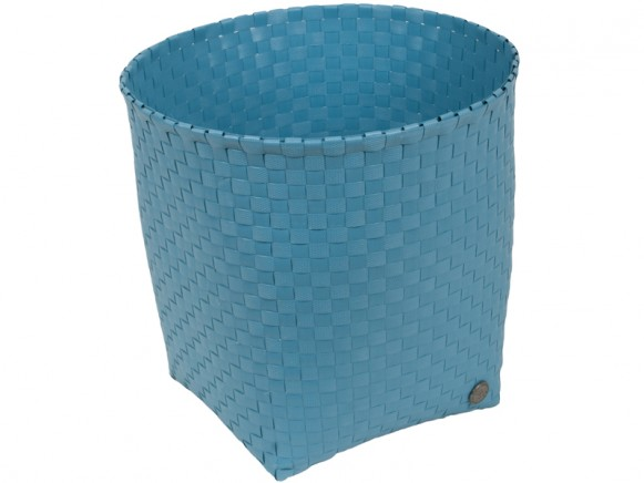 Handed By waste paper basket Padova in stoneblue
