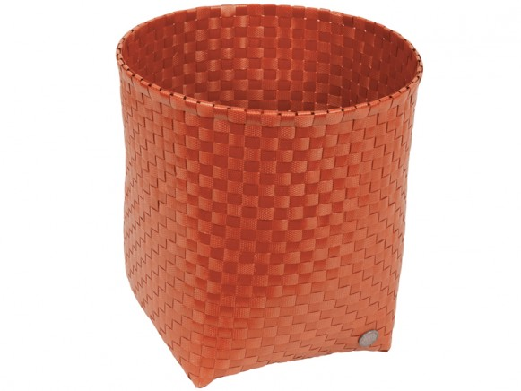 Handed By waste paper basket Padova in terracotta