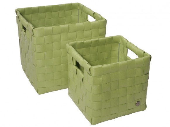 "Handed By ""Sam"" baskets in apple green"