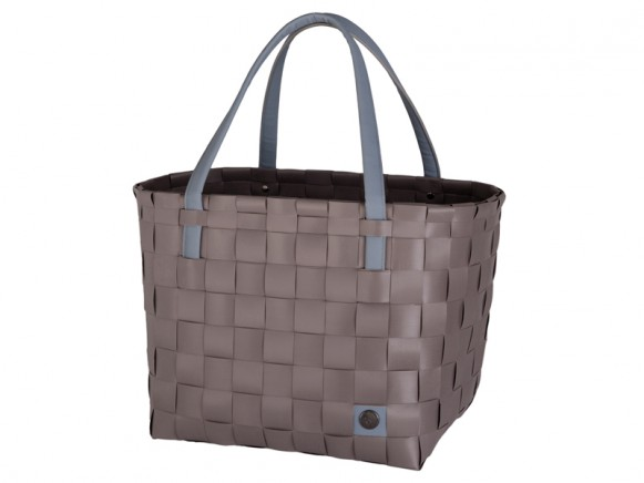 Handed By shopper Color Block stone brown