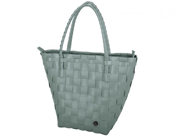 Handed By safe zip shopper greyish green