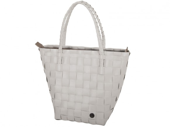 Handed By safe zip shopper pale grey