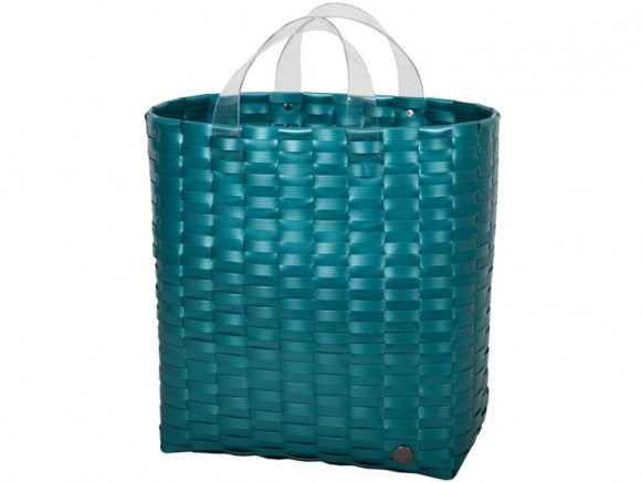 Handed By shopper Victoria metallic green