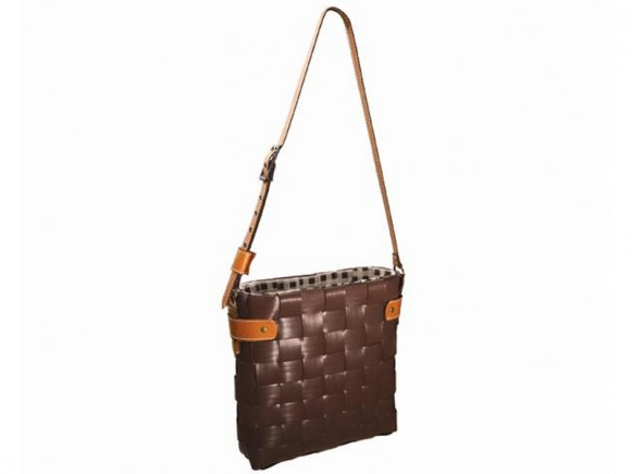 Dark brown shopper Luxembourg by Handed By