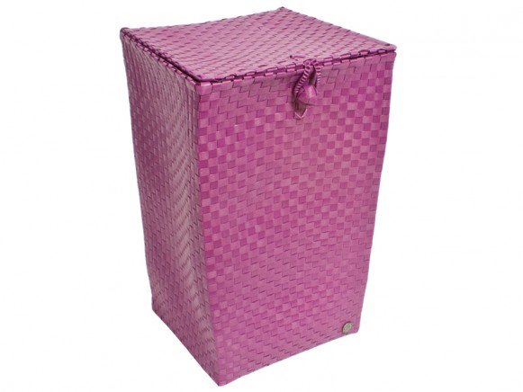Laundry basket in raspberry by Handed By