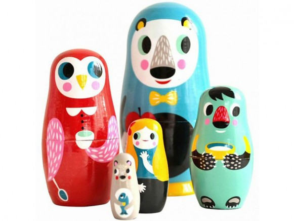 Nesting dolls IN THE WOODS