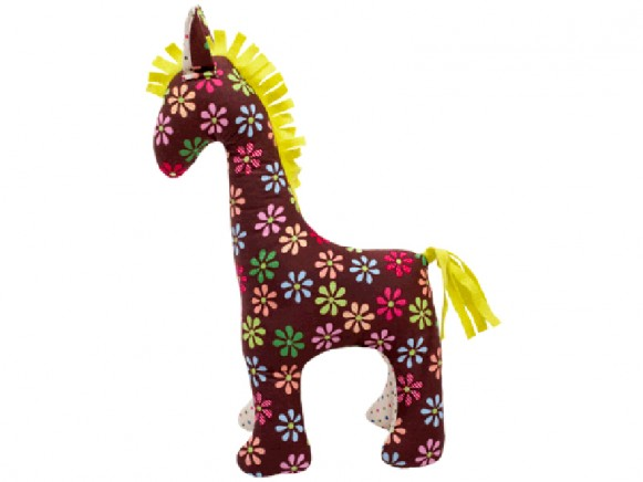 Hickups horse flowers brown