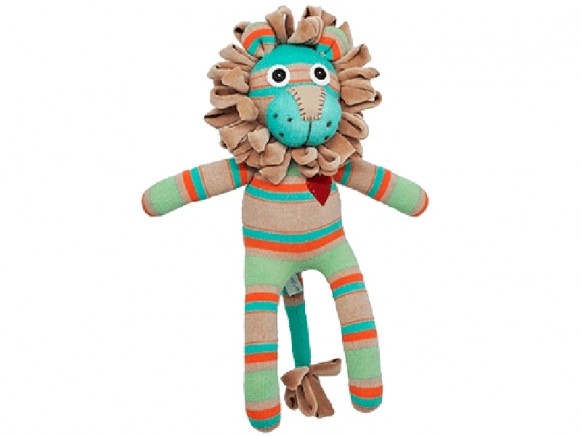 Hickups sock lion brown turquoise